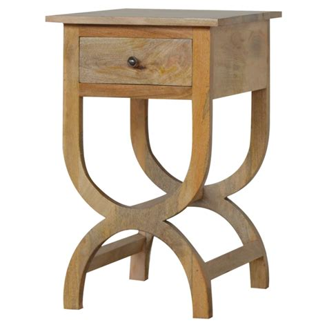 cross leg bedside table lantana 1 drawer cross leg bedside japonica home