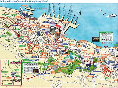 tourist map of central hong kong maps
