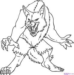 werewolf coloring pictures free coloring pages on art