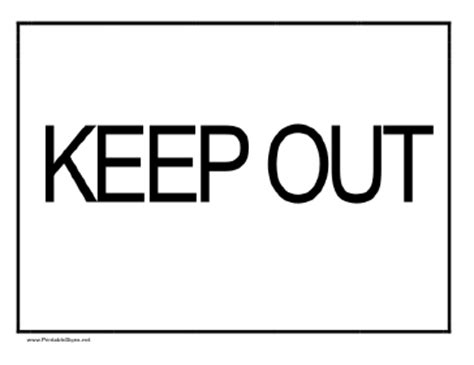 keep signs colouring pages