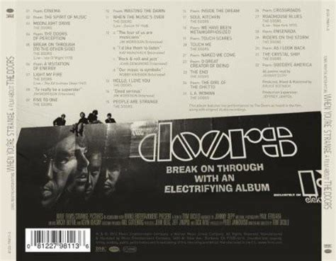 Cd Soundtrack Of Your the doors when you re strange soundtrack cd