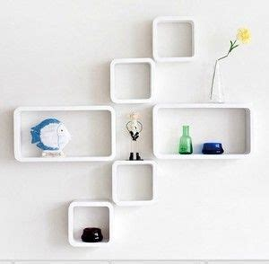 details  set   wall cube rectangle shelves