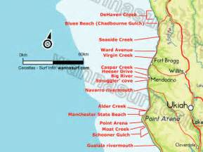 california surf map cape mendocino california map of area pictures to pin on