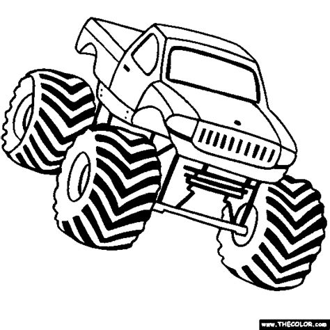 monster trucks drawings monster jam coloring page coloring home