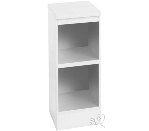 hton white narrow bookcase with 1 shelf review