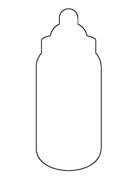 baby bottle template baby bottle pattern use the printable outline for crafts