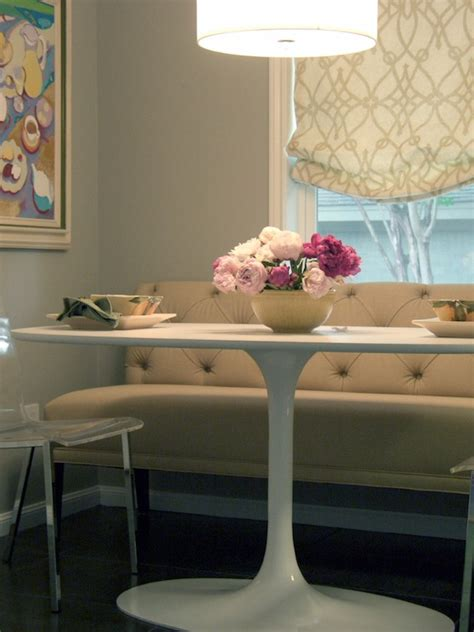 tufted dining bench transitional dining room terri
