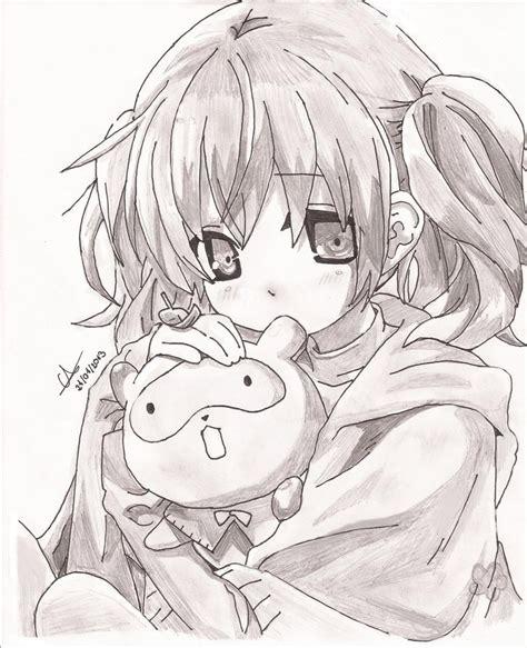 imagenes de anime y manga chica anime por tenzart dibujando