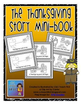 the art book mini 0714867969 quot the thanksgiving story quot mini book by clip art by carrie teaching first
