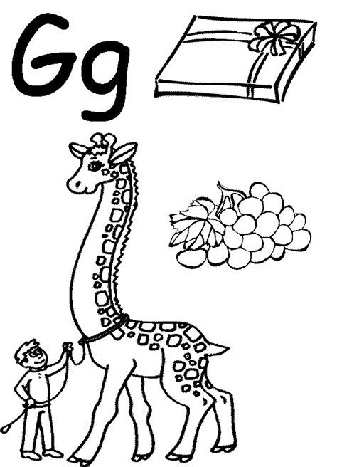 preschool coloring pages letter g free printable worksheets for the letter g letter g