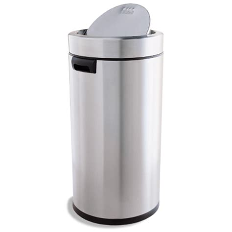 swing trash can simplehuman stainless steel 14 5 gal swing lid trash can