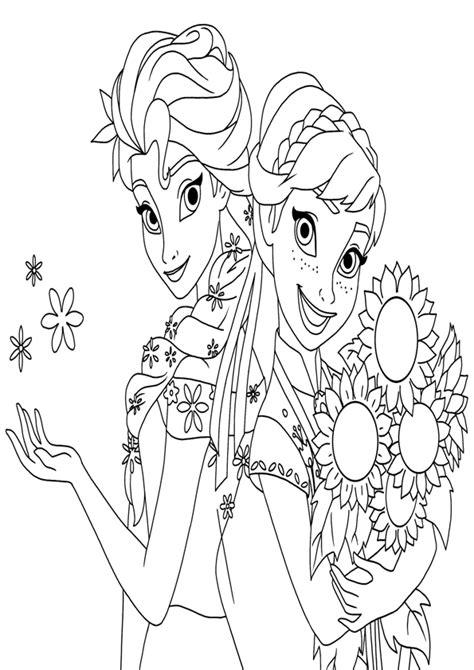 coloring pages frozen fever borthday annas frozen fever coloring pages printable