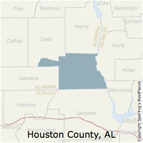map of houston county alabama best places to live in houston county alabama