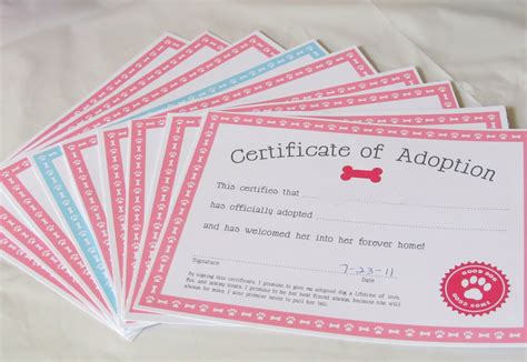 printable puppy birth certificate template 3d character