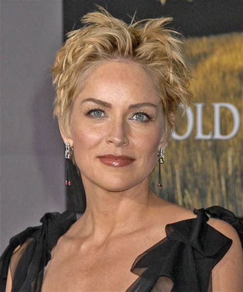 Sharon Stone Short Hair On Round Face | sharon stone hairstyles in 2018