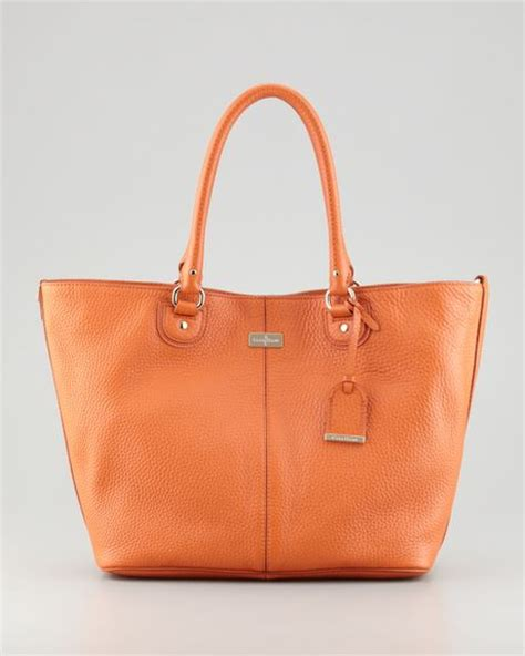 Cole Haan Medium Convertible Tote by Cole Haan Convertible Leather Tote Bag Orange In