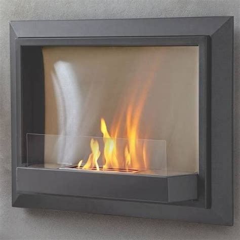 real grey envision wall ventless fireplace modern