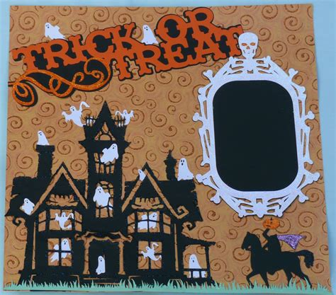scrapbook layout ideas for halloween una crafting halloween scrapbook pages