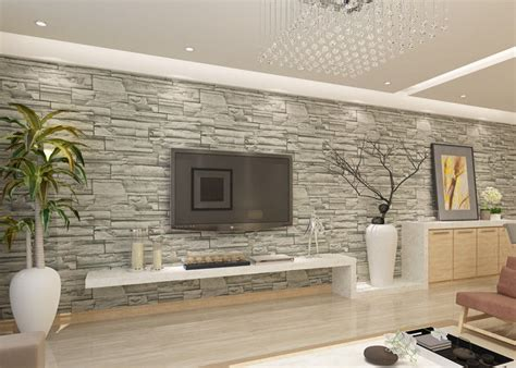 brick wallpaper grey living room stylish removable faux 3d brick effect wallpaper with grey