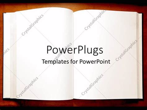 template for powerpoint book powerpoint template an open book with blank pages as a
