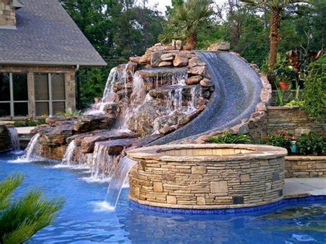 water in backyard backyard water slide outdoor furniture design and ideas