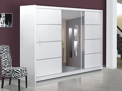 modern door mirrors and doors on pinterest details about brand new modern bedroom sliding door wardrobe with mirror vista white wardrobe