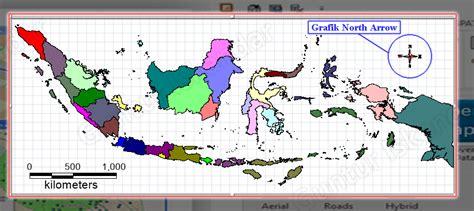 standar layout peta tutorial teknologi geografi dan informasi layout
