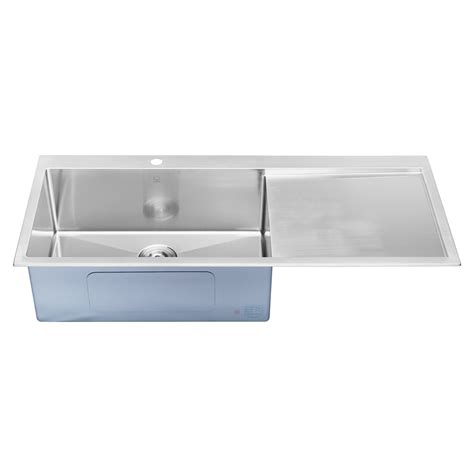 top mount stainless steel sink with drainboard single bowl stainless steel kitchen sink with drainboard