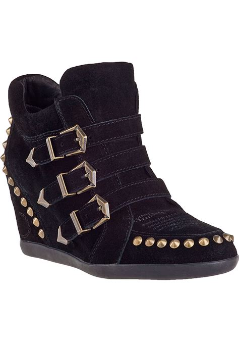 wedge sneakers black ash bobos wedge sneaker black suede in black lyst