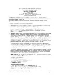 t m contract template term rental agreement free