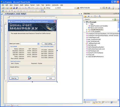 serial port monitor activex monitor any serial port