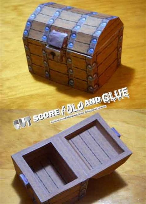 Treasure Chest Papercraft - mario 64 treasure chest papercraft paperkraft net free