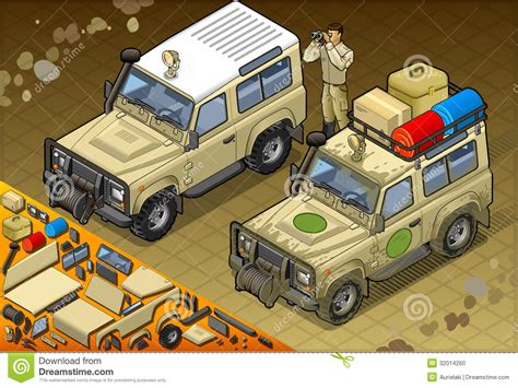 safari jeep front clipart isometric safari jeep in front view stock photo image