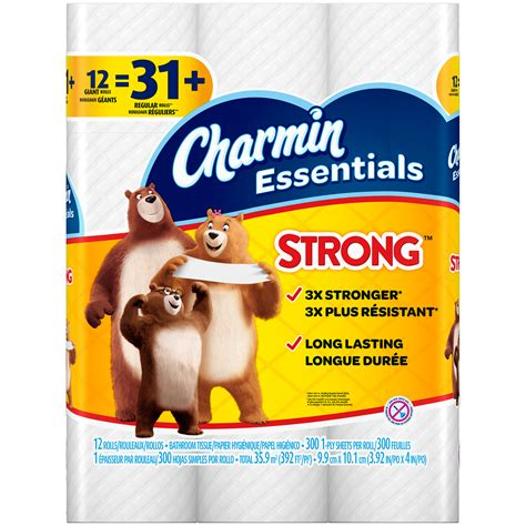 What Makes Toilet Paper Strong - upc 037000968948 charmin essentials strong toilet paper