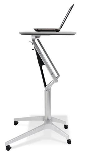 sit stand desk options premium steel sit or stand desk with finish options