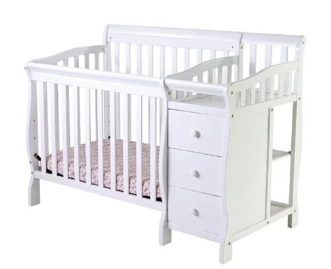 Mini Crib With Changer by On Me 4 In 1 Convertible Mini Portable Crib