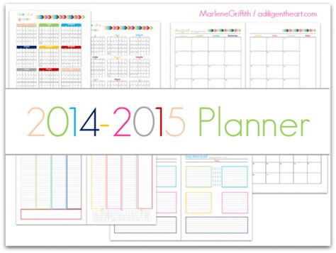 printable daily planner for june 2015 planner july 2014 june 2015 a diligent heart