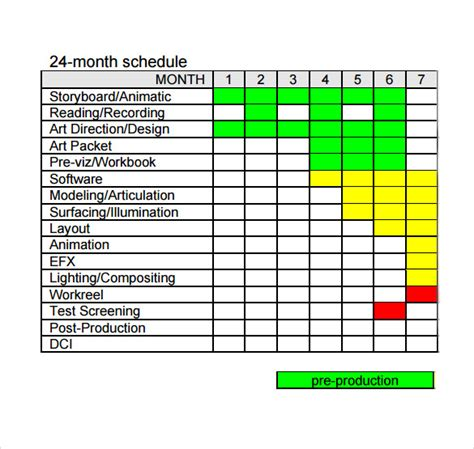 10 production schedule templates free sle exle
