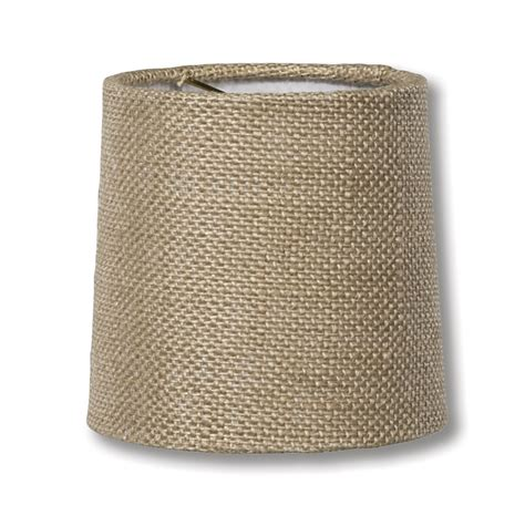 burlap drum l shade natural burlap chandelier shade mini retro drum hardback
