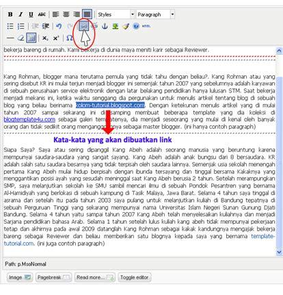 membuat link halaman html cara membuat link pada halaman editor joomla joomla