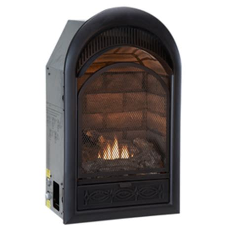 shop procom 16 in black vent free gas fireplace at lowes