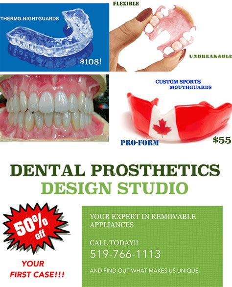 flyer design lab promotions dental prosthetics design studio