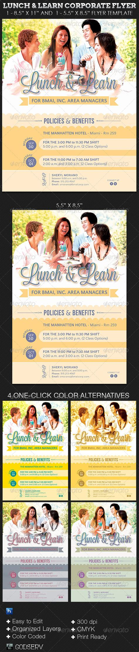 Lunch And Learn Corporate Flyer Template On Behance Lunch And Learn Flyer Template