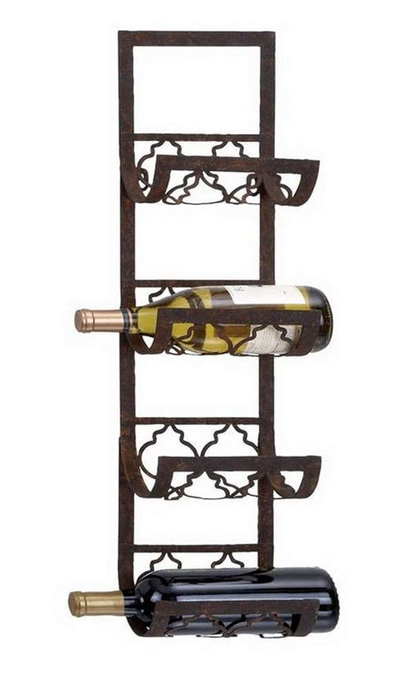 Metal Wall Wine Rack Bottle Holder by 4 Bottle Wall Mount Wine Rack Storage Holder Metal Kitchen