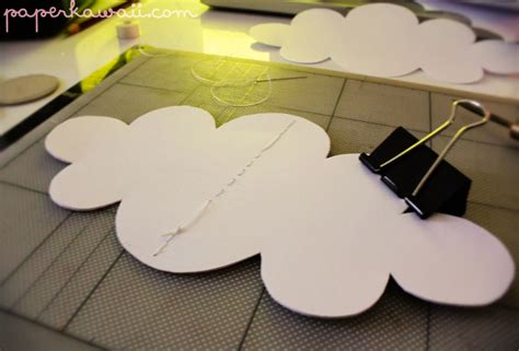How To Make 3d Clouds Out Of Paper - 3d cloud decoration tutorial paper kawaii