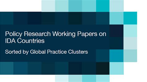 policy research working paper research on ida countries