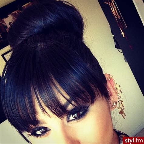 cute bun styles with xpression hair 60 best images about buns and bangs on pinterest
