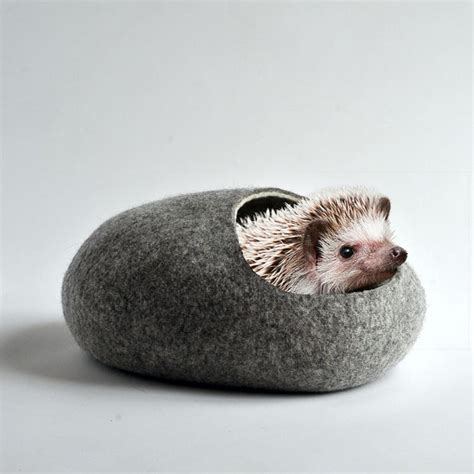 hedgehog bed hedgehog bed small animal cave felted pet house small pet