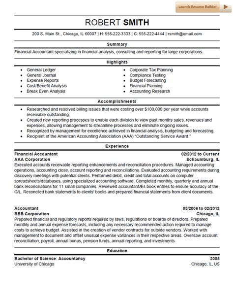 Resume Template Accounting by Accounting Resume Template Resume Exles