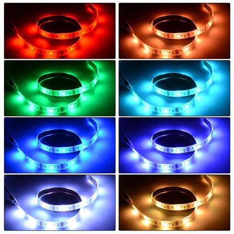 multi color led lighting kit 4x 50cm usb led rgb bluetooth multi color strip light kit